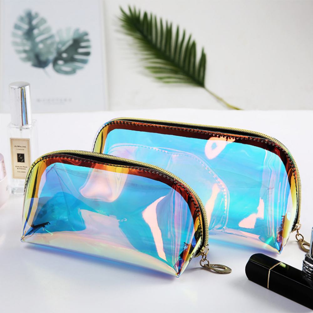 Net red laser color transparent cosmetic bag